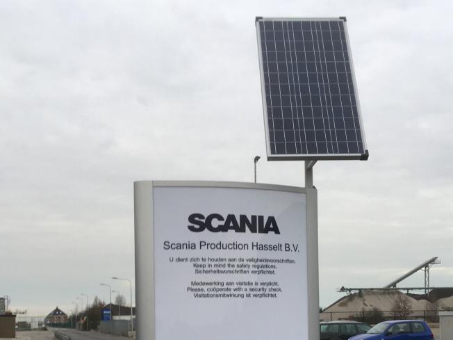 Solar reclamezuil