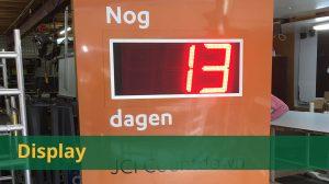 Overzicht display (tijd. temperatuur)